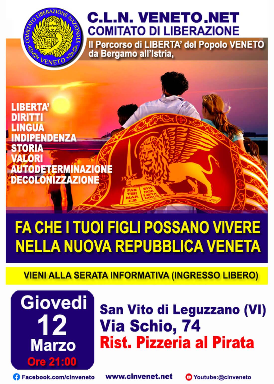 SAN VITO DI LEGUZZANO (VI) @ Rist. Pizzeria Al Pirata - Via Schio, 74 - SAN VITO DI LEGUZZANO (VI)