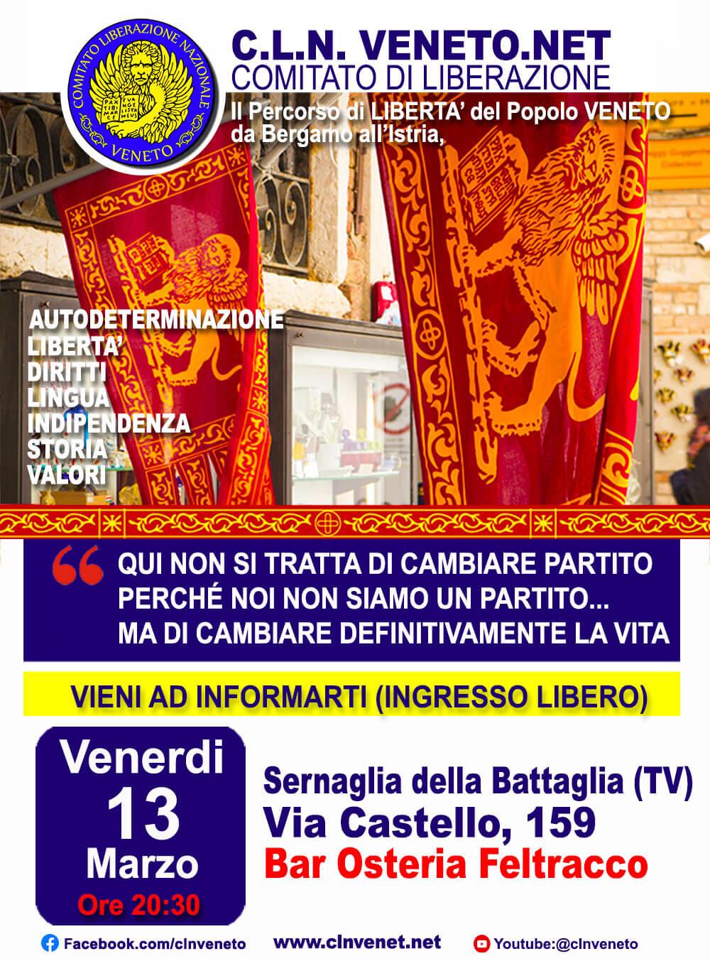 SERNAGLIA DELLA BATTAGLIA (TV) @ Osteria Feltracco (alla Telliera) - Via Castello ,159 - Sernaglia della Battaglia (TV)