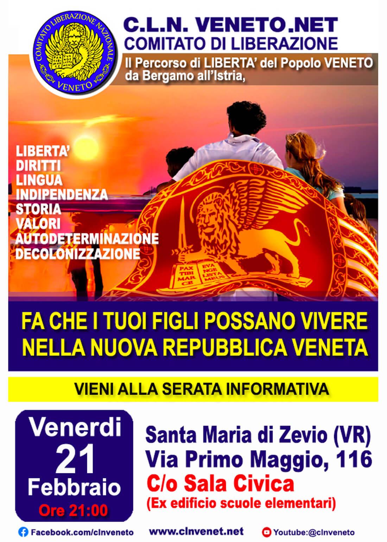 SANTA MARIA DI ZEVIO (VR) @ Via Primo Maggio, 116 - C/o Sala Civica (ex edificio scuole elementari)