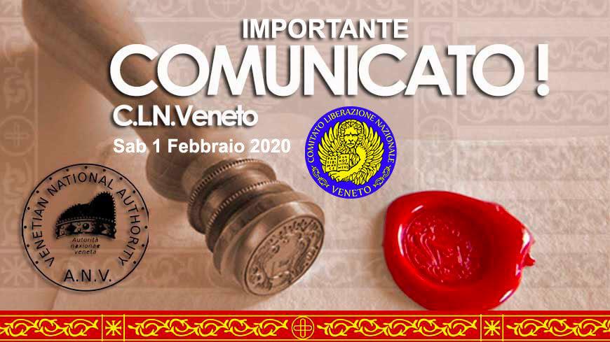 COMUNICATO IMPORTANTE C.L.N.V. - STATUTO DEL COMITATO