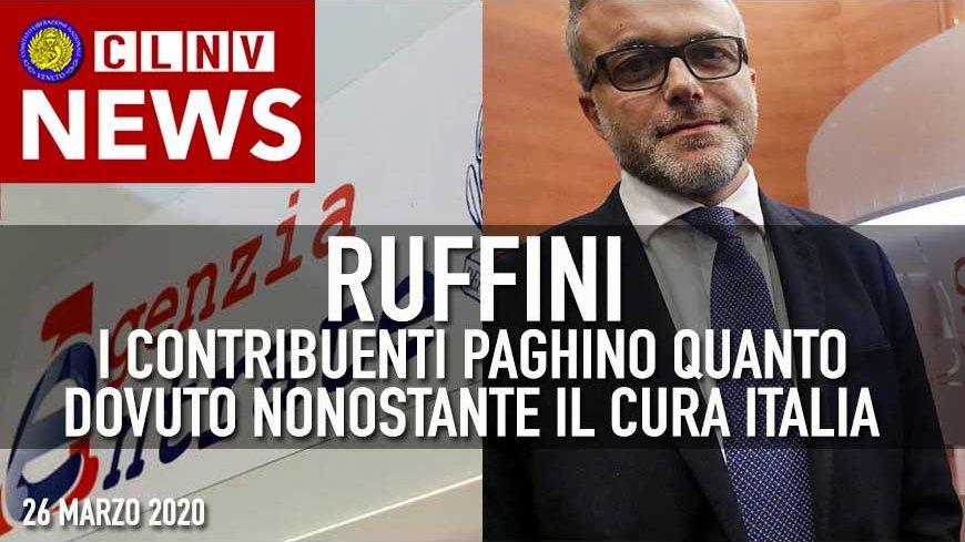 """Ruffini: """" I Contribuenti PAGHINO QUANTO DOVUTO nonostante L'Emergenza !!!!"""