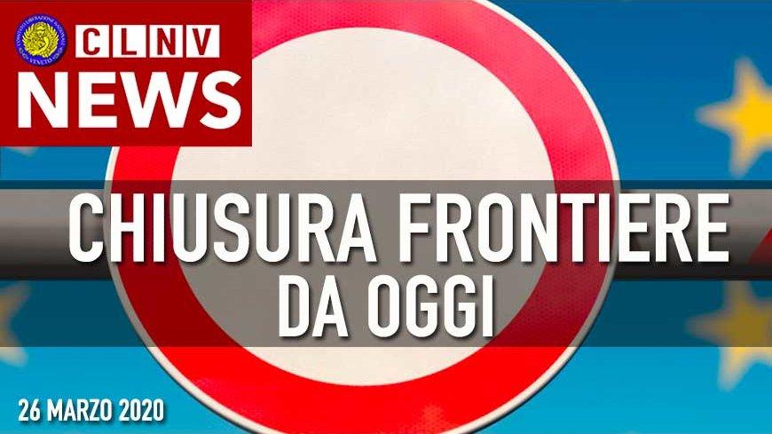 Frontiere: Limitazioni o divieto di ingresso e di uscita dall'Italia