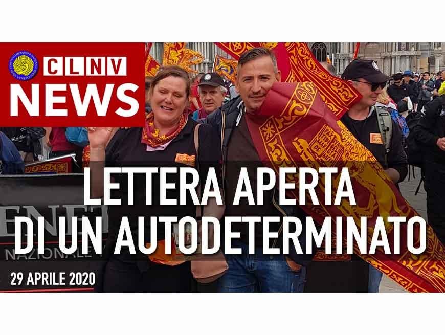 Lettera di una Autodeterminato del C.L.N.Veneto