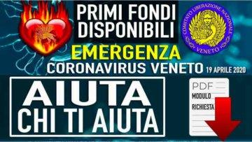 NEWS: Aiuti ai nostri Fratelli VENETI - Modello di richiesta aiuti ora disponibile.