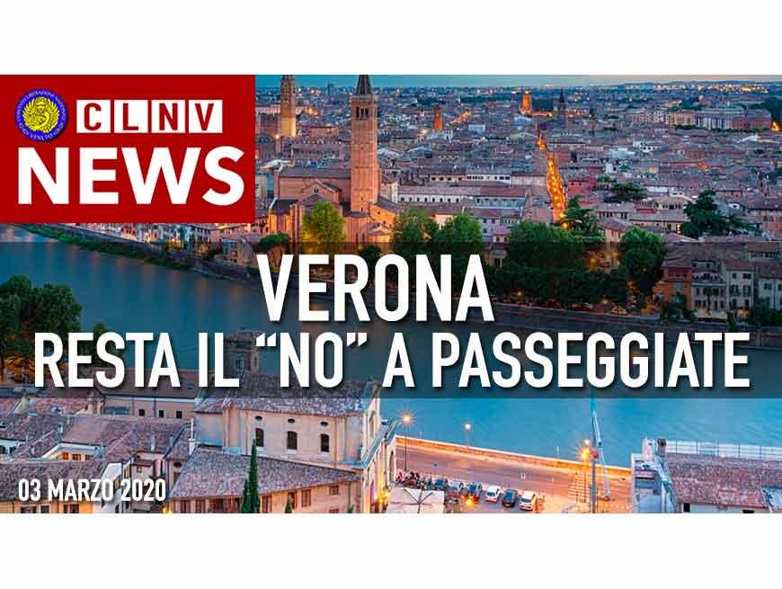 Verona: Coronavirus: resta il NO alle passeggiate