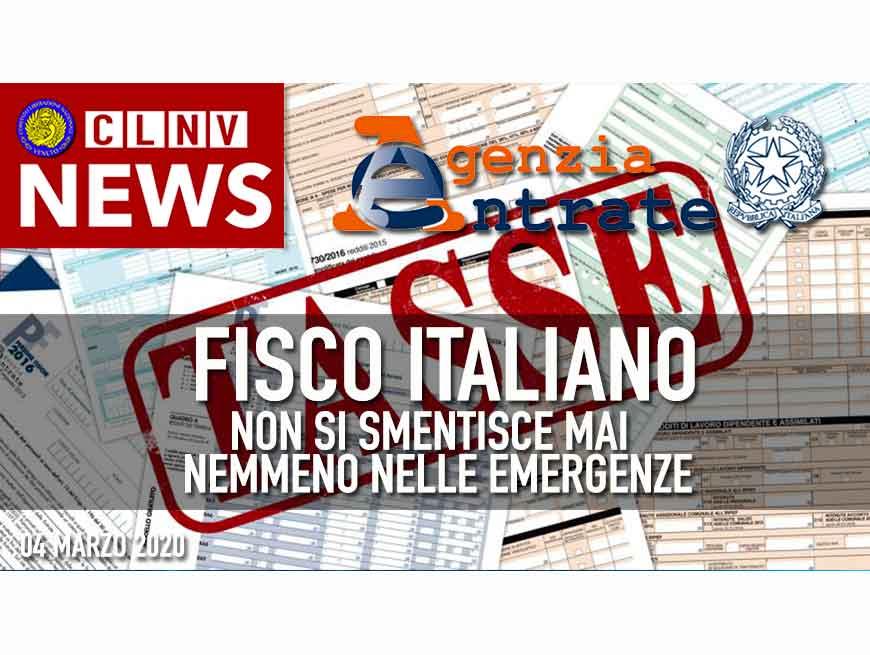 Italia e FISCO non si smentiscono mai.  WSM