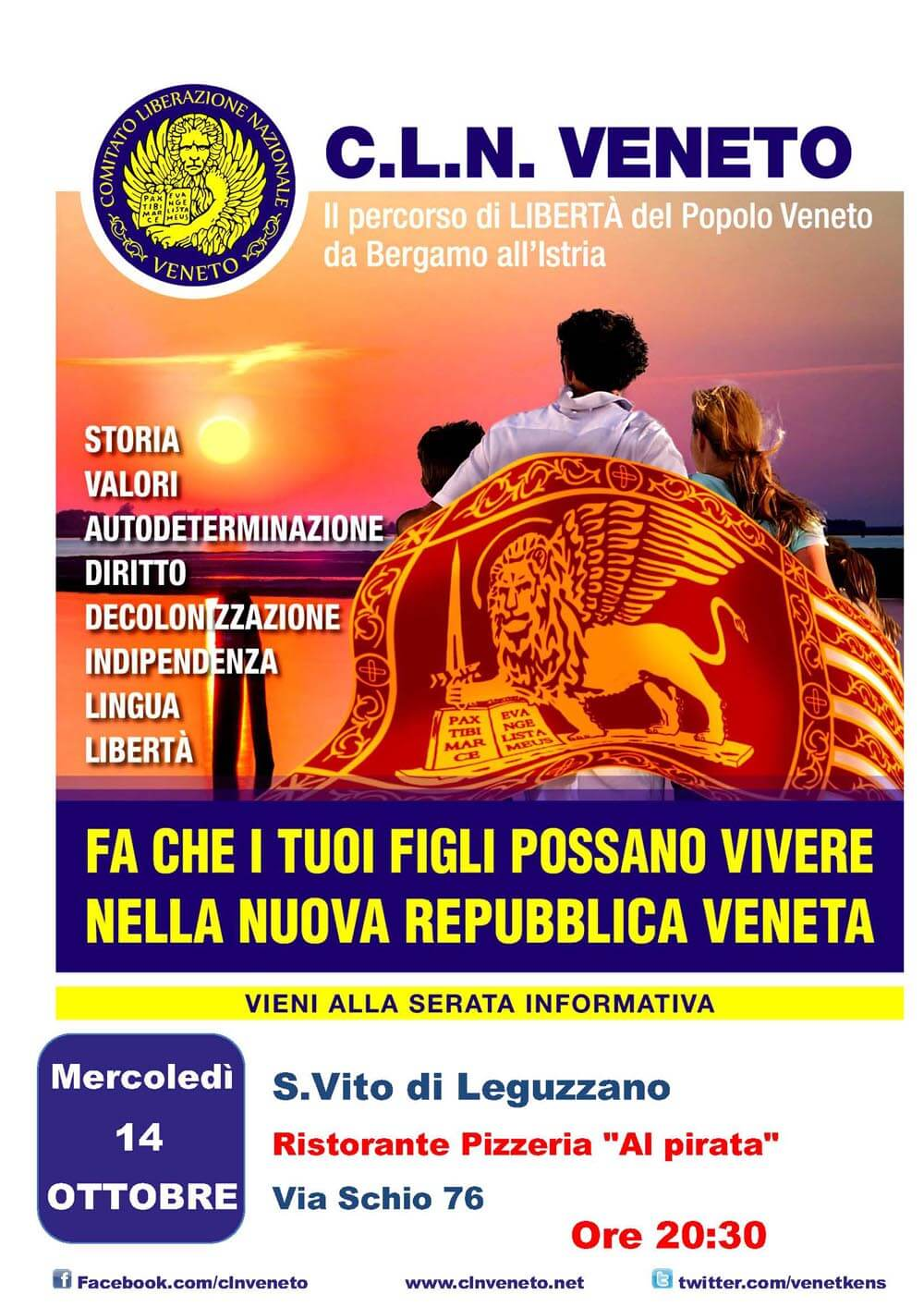 """S.Vito di Leguzzano (VI) @ Ristorante Pizzeria """"Al pirata"""""""